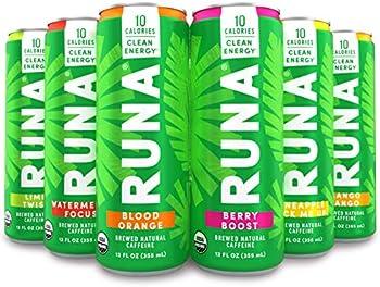6-Pack Runa Organic Clean Energy Drink 12 Oz Sampler Pack