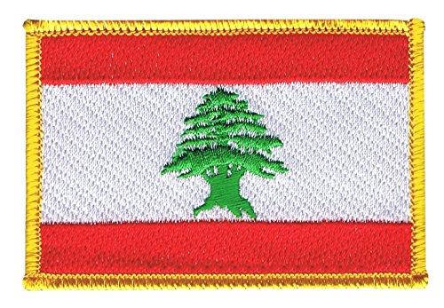 Flaggen Aufnäher Libanon Fahne Patch + gratis Aufkleber, Flaggenfritze®