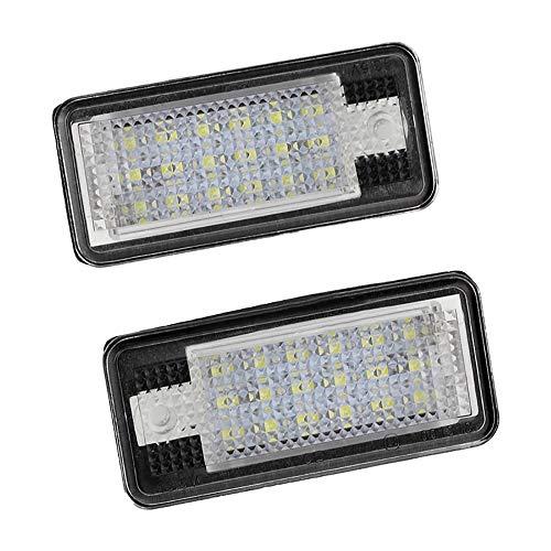 Kennzeichenbeleuchtung, 2 Stück, 18 LEDs, fehlerfrei, wasserdicht, Rückleuchten für A3 8P S3 A4 B6 B7 A6 S6 A8
