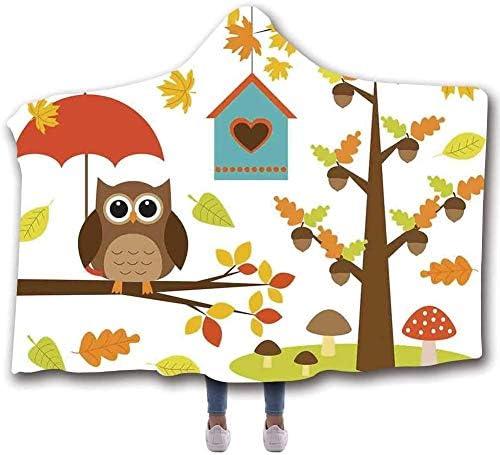 GGXIAO Nature Multipurpose Wearable Hooded Blanket Cartoon Art P Arlington Mall Ranking TOP10
