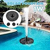 噴水ポンプ ソーラーポンプ 1W 太陽光充電 200L / H 省エネ 自動操作 ブラシレス 水サイクル 屋外 池 プール 水槽 装飾 ソーラー水中ポンプ フローティング 噴水 養魚池 水族館