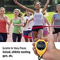 プラスチックレフリーマッチ多機能ストップウォッチ、スポーツタイマー、水泳を実行するためのスポーツ用品タイミングツール(yellow)