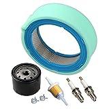 Hipa Air Filter/Pre Cleaner Fuel Filter Tune Up Kit fits for John Deere GT235 GT235E LTR166 LT166 LT170 LX288 SST16 SST18 Lawn Mower