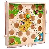 Laberinto Creativo para niños Juego de Mesa con Bola de tracción Actividades de jardín de Infantes de Madera Rompecabezas de educación temprana Ayudas didácticas interactivas para Padres e Hijos