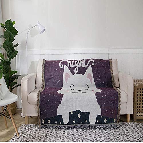 Avmy Tagesdecke Tröster Sofa Sofabezug Plaid Gestrickt Home Couch Bettdecke mit Quaste Kids Sleeper