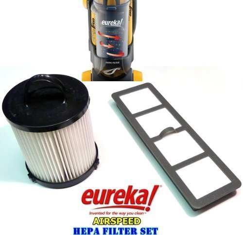 Generic HEPA Filter Replacement Set Made To Fit Eureka AirSpeed Bagless Upright