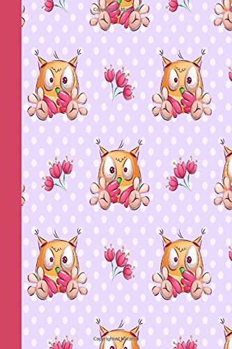 KOOKY OWL NOTEBOOK: Colorful notebook to write in, lined pages with bird image, double sided cover, contrasting printed spine, ideal for women girls who love funny animal designs