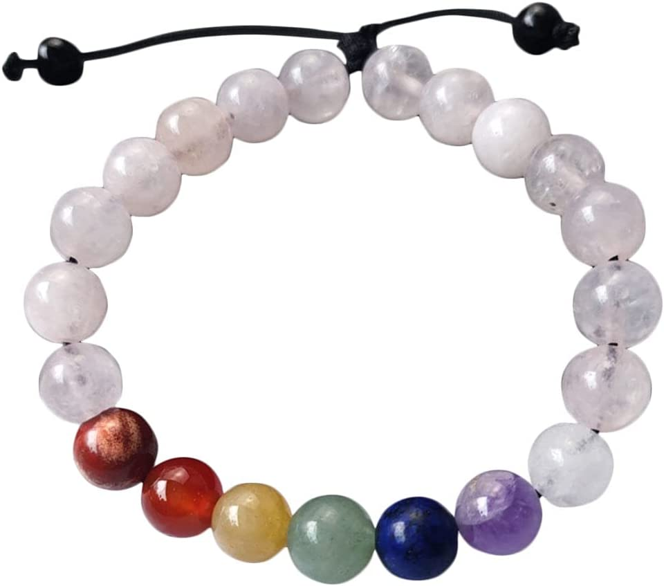 DOITOOL Gemstone Bead Bracelet Wrist Round specialty Max 55% OFF shop Colorful Crystal