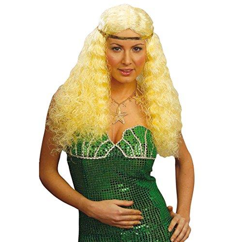 Perruque glamour longue bouclés accessoire costume mardi gras tenue fête