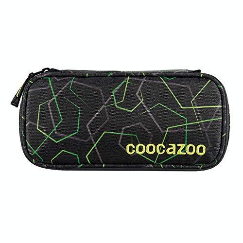 """Coocazoo Federmäppchen PencilDenzel """"Laserbeam Black"""" schwarz, Schlamperetui, Geodreieckfach, Stundenplanfach, herausnehmbarer Stiftehalter, zusätzliches Reißverschlussfach"""