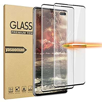 GBBC Glass Screen Protector for Samsung Galaxy S10 Plus, 2 Pieces Tempered Glass 3D Full Coverage Support Fingerprint Sensor HD Clear Screen Protector for S10 Plus/S10+ (S10 Plus 5G, 6.4 inch)