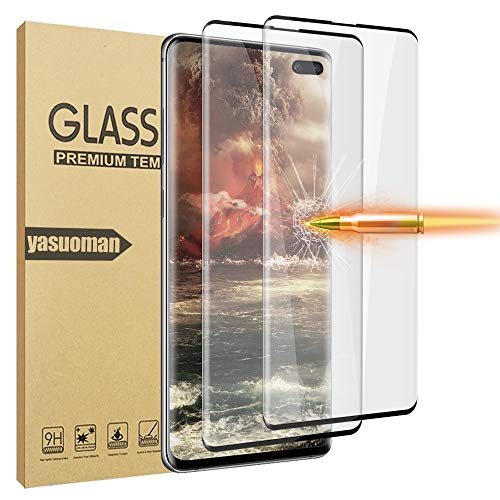 LELANG Galaxy S10 Plus/S10+ (6.4 inch) HD Screen Protector, 2 Pack 3D Full Coverage Designed for Fingerprint Unlock Tempered Glass Film for Samsung Galaxy S10 Plus