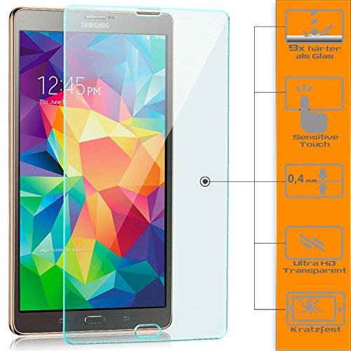zanasta [2 Stück] Displayschutz Folie kompatibel mit Samsung Galaxy Tab S 8.4 (SM-T700 T705) Schutzfolie aus Gehärtetem Glas (Glasfolie) HD Klar Transparent