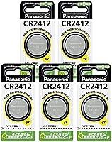 パナソニック リチウムコイン電池 CR2412 CR-2412P (5個セット)