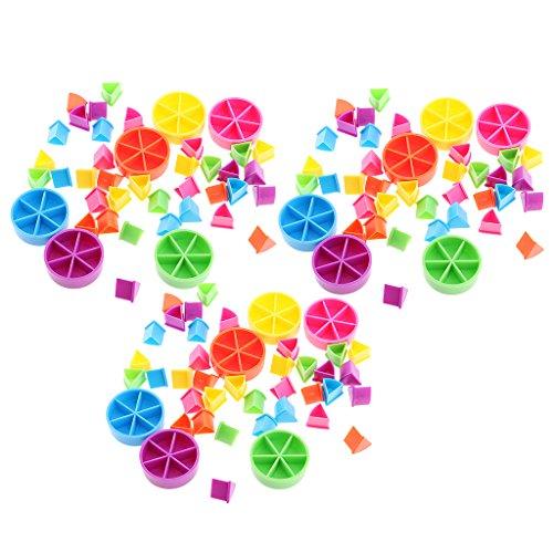 Hellery Paquete De 126 Piezas para Trivial Pursuit Juego de Pieces Pie Wedges para Math Fractions