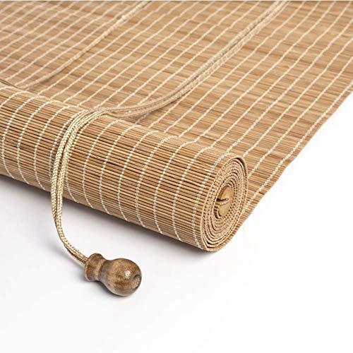 Obturador de rodillo natural Persianas for persianas enrollables Sombrilla Cortina aislante Bloqueador solar Bambú 60% Sombreado Persianas enrollables de bambú Persianas romanas Opciones de múltiples