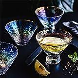 Cuencos de vidrio Conjuntos de 4, mini cuenco de helados, esquema en la taza de patrón de martillo d...