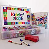 Kiddies Stage 274 Pcs Magnetic Letters and Numbers for Toddlers with Shapes, Magnet White Board,, Erasable Pen, Eraser and Storage Box. Alphabet Magnet for Kids. Educational Toy Foam Magnetic Kit