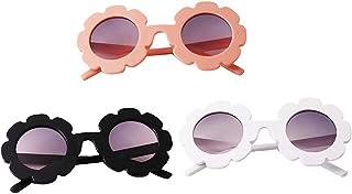 perfeclan - perfeclan Conjunto de 3 Gafas de Sol para niños Gafas de Aviador   Niños y niñas   Protección 100% UV 400 4-12 años