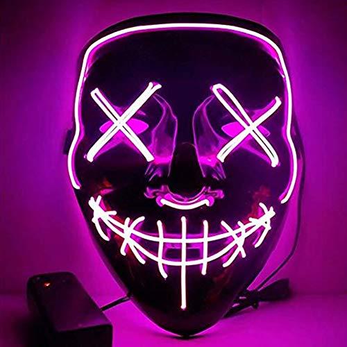 LYMASK LED Purge Maske Leuchten Mask mit 3 Blitzmodi für Halloween Fasching Festival Karneval Party Kostüm Cosplay Dekoration (Enthält...