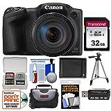 Canon PowerShot SX420 is Wi-Fi Digital Camera (Black) with 32GB Card + Case + Battery + Tripod + Kit
