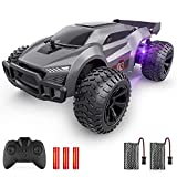 【Speedy Remote Control Car】: Powered by a strong motor, the rc car can reach up to a speed of 15-20km/h, giving you a thrilling driving experience. 【Up to 120 Mins Playtime】: The rc car comes with two 1000mAh large capacity rechargeable battery for t...