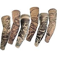 HaimoBurg Juego de 6 Mangas con Apariencia de Tatuaje Real