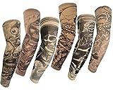 HaimoBurg Juego de 6 Mangas con Apariencia de Tatuaje...