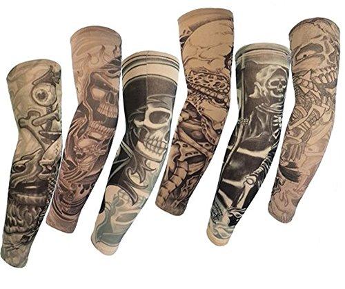 HaimoBurg Set di 6 Maniche Tatuaggio Temporaneo Realistico Tattoo Finti