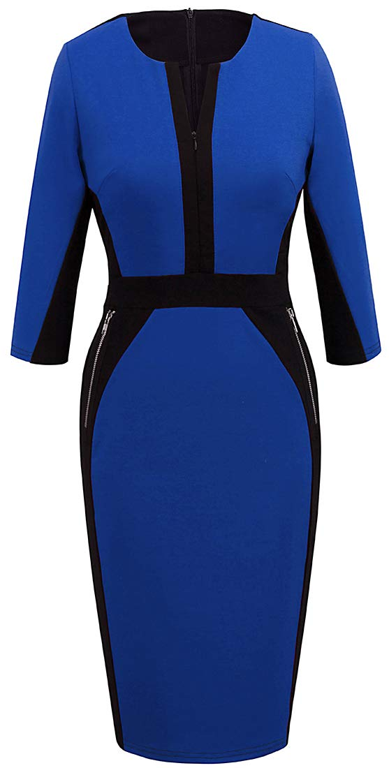 Available at Amazon: VELJIE Women's Vintage Tunic Sheath Pencil Work to wear Party Dress