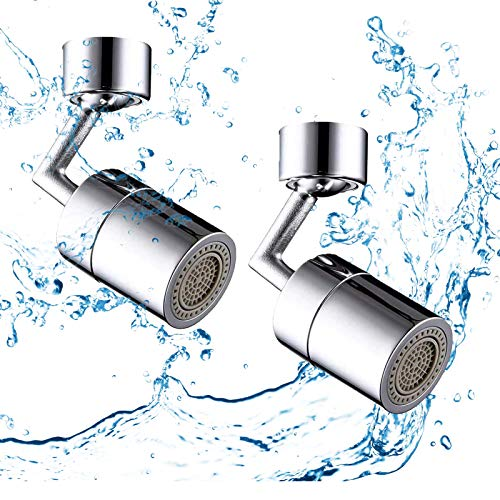 Universal Splash Filter Faucet, 720°Rotate Water Outlet Faucet,Universal Basin Lengthen Extender,Create Oxygen-Enriched Foam, Kitchen Tap Water Saving Nozzle Sprayer Booster with 4-Layer Net Filter
