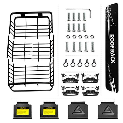 Leader Accessories Upgraded Roof Rack with 150 LB Capacity Extension 64x 39x 5' Car Top Luggage Holder Carrier Basket Fit for SUV Truck Cars