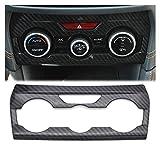 Wishful Ajuste para Subaru XV Crosstrask 2018 AC A/C Advertencia Luz de Advertencia Tablero de mandos Centro Central Consola Cubierta de Fibra de Carbono Cubierta con molduras de Bisel