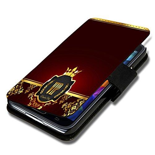 wicostar Book Style Flip Handy Tasche Hülle Schutz Hülle Schale Motiv Etui für Wiko Darkmoon - Flip 1A49 Design5