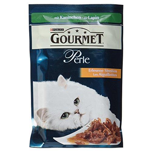 Gourmet Perle Katzenfutter mit Kaninchen, 1er Pack (1 x 85 g)