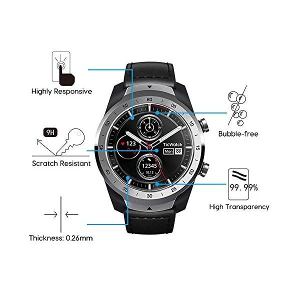 ivoler 4 Unidades Protector de Pantalla para Huawei Watch GT/Huawei Watch GT Active/Huami Amazfit Verge/Amazfit Verge… 4