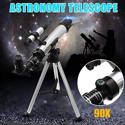 KAR 90x Télescope astronomique extérieur monoculaire avec Outil Trépied pédiatrique enseignement Etoiles Lune Regarder Spotting Scope
