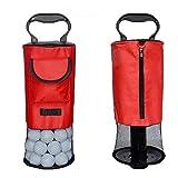 MinLia Golf Ball Shag Bag,Golf Ball Retriever Portable Pocket Shagger Storage Pick up Shag Bag,Golf Shag Bag,Convenient Pocket Tees Pick Up Ball Storage Portable Collector,Black