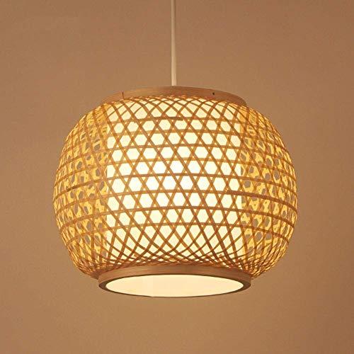 MUMUMI Lámpara de bambú Zen Chino E27 Lámpara de Techo L