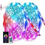Tiras Led 20M,TASMOR Tiras led RGB 5050 Multicolores, Sincronización con Música, Controlado con Móvil APP, 12V 600 Leds,Tiras de Luces Led Iluminacion para Habitación