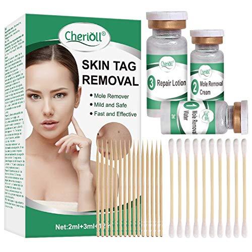 Muttermal Entfernen,Skin Tag Remover, Spot Leberfleck Entfernen,Moles und Skin Tags entfernen, Stufen für alle Arten von haut-tag, Natürliche, 3 Set (2ml+3ml+12ml)