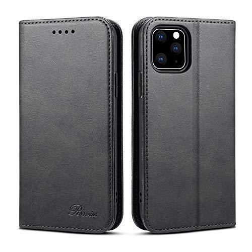 iPhone 11 Pro Max ケース 手帳型 アイフォン 11 Pro Max ケース 財布型- Rssviss カード収納 スタンド機能 高級PUレザーケース マグネット スマホケース(iPhone 11 Pro Max6.5 inch対応) W1 ブラック