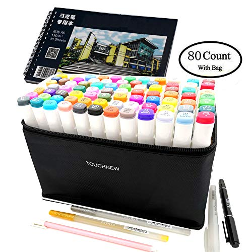 80 Alcohol Markers Touch New Markers, Marker Pens Twin Tip Text Marker Graffiti Pens Marker Pens Set for Students Manga Artist By ZHIJIAN