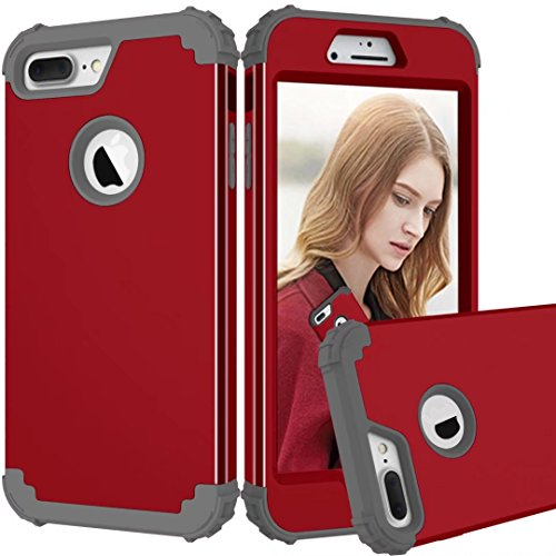 Funda para iPhone 8 Plus, Funda híbrida de Manga Resistente, Resistente a los Golpes, Carcasa de protección Militar de Doble Capa contra Impactos con Cojines Extra para Apple iPhone 8 Plus