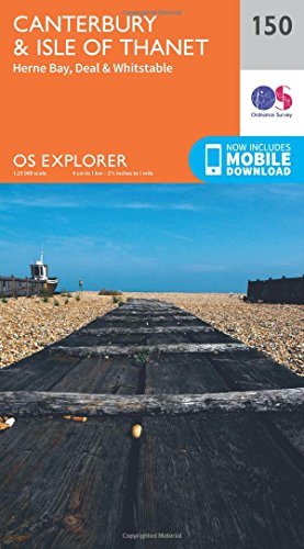 OS Explorer Map (150) Canterbury and the Isle of Thanet
