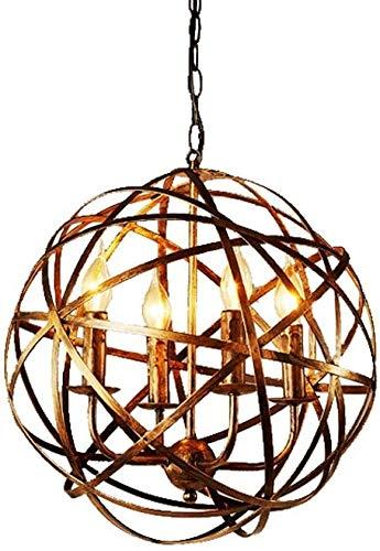 Office kroonluchter Vintage Rustieke Industrial Iron Style verouderde messing Kaars kroonluchter Globe Shade hanglamp Opknoping verlichting armatuur Onderzoek kamer kroonluchter