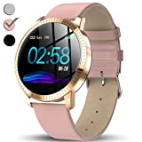 TURNMEON Women Hybrid Smart Watch - Fitness Tracker IP67 Waterproof Smartwatch for Android with Heart Rate Monitor, Blood Pressure Monitor, Sleep Female Menstrual Record, Pedometer, Calorie Counter