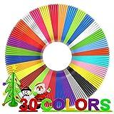 3D Pen Filament Refills 30 Colors, Bonus 250 Stencils eBooks - Dikale 3D Pen Filament PLA 1.75mm,Non-Toxic, Smooth Printing Refills
