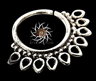 Silver Nose Ring - Silver Nose Hoop - Indian Nose Ring - Tribal Nose Ring - Nose Jewelry - Nose Piercing - Tiny Nose Ring - Nostril Ring - Nostril Jewelry - Piercing Jewelry (NL8S)