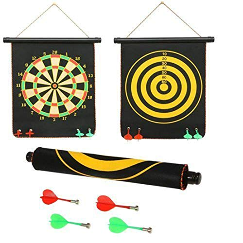 Wekidz Magnet Dart Board Game for Kids ,Double Sided Magnet Dart Board with Darts, Size- 18 Inches (Gift Wrapped)